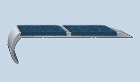 LDAS Series Light Duty Abrasive Safety Stair Tread Nosings