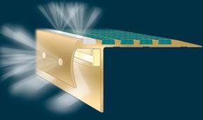 Tredlite 2 Asbrabronz LED Decorative Safety Stair Tread Nosings