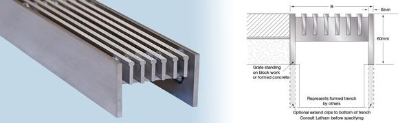 Aluminium Trench Gratings