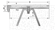 FA501SWAK Cast-In Place Nosing template diagram