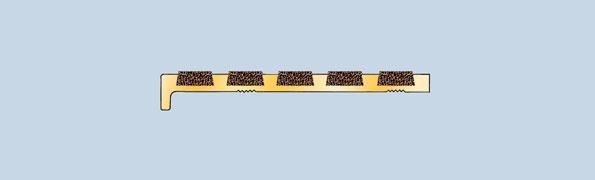 B775S Recessed Brass Nosing